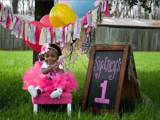 Sydney on her first birthday