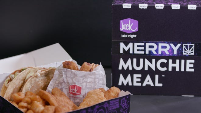 Jack in the Box will sell a marijuana-themed Munchie Meal in Long Beach, Calif., for a week in January.