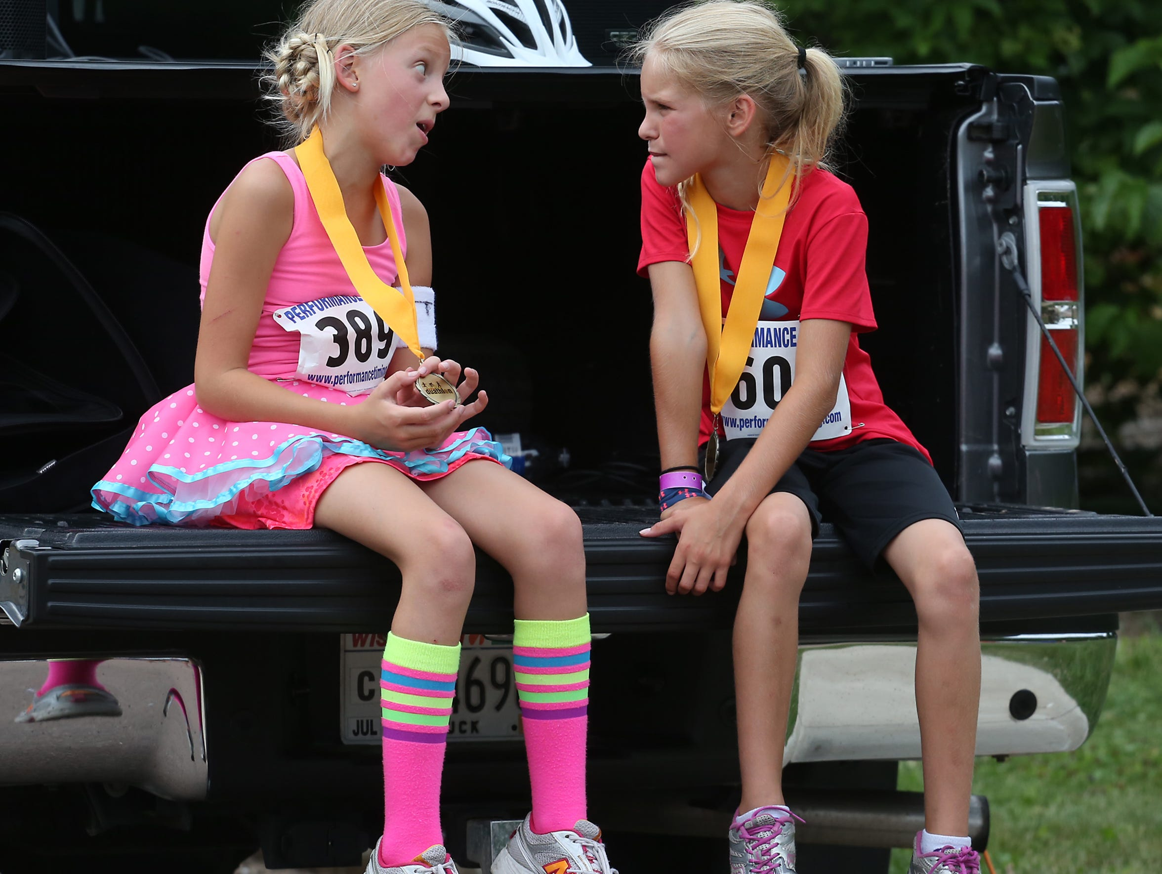 A kids duathlon was one of the new events at Hub City