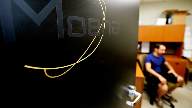 Entrepreneur Kyle Musco, co-owner of Moena, a software engineering development company, is shown at his office in York College's J.D. Brown Center for Entrepreneurship in York City, Wednesday, June 1, 2016. Dawn J. Sagert  photo