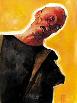 Cover art for the new Marvel and George Romero comic book series 'Empire of the Dead' by Alex Maleev.