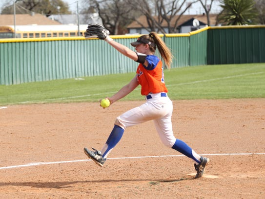 San Angelo Central High School starting pitcher Ashton