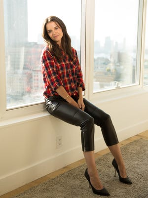 """Katie Holmes promotes her new film, """"Miss Meadows."""""""