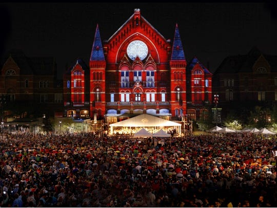 Previous Lumenocity shows drew thousands to Washington Park to see a visual display projected on Music Hall's facade.