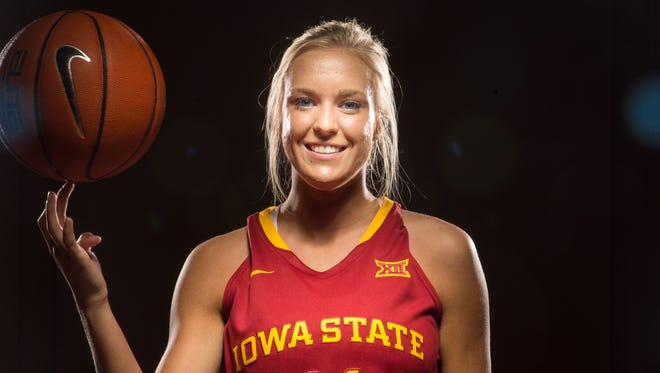 Jadda Buckley stands for a portrait during media day in Ames Thursday, Oct. 8, 2015.