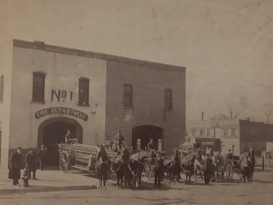 An undated photo of the old Springfield Fire Department Station 1 on West College Street.