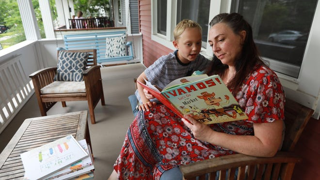 "Shelley Karabatkovic has organized a ""learning pod"" for her son Oliver and four of his first-grade classmates at Columbus' Clinton Elementary School. The parents have hired a substitute teacher to lead group instruction in their homes beginning Sept. 8 when Columbus schools begin the school year online."