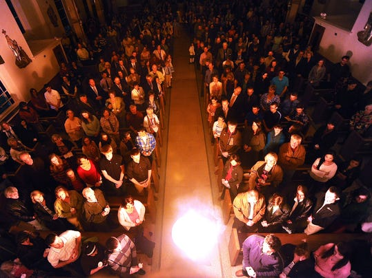The Great Triduum - Easter Vigil 2015, St. Joseph Catholic Church, (Photo: Coloradoan library)
