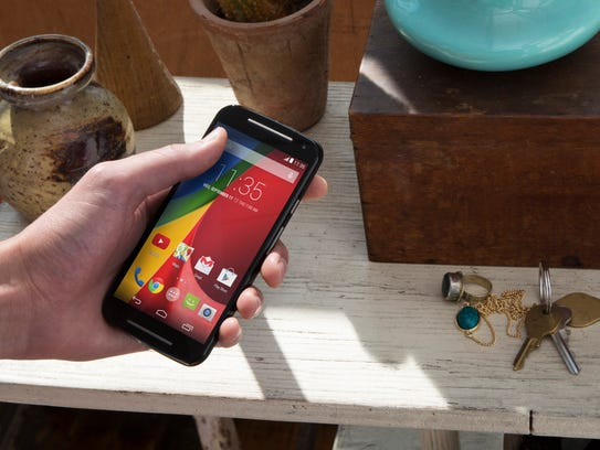 The budget-priced Moto G smartphone has Gorilla Glass.