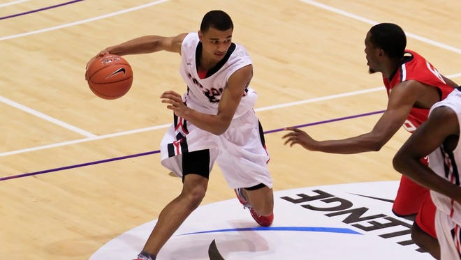 Team Canada player Jamal Murray (5)  dribbles the ball during the Nike Global Challenge in 2013.