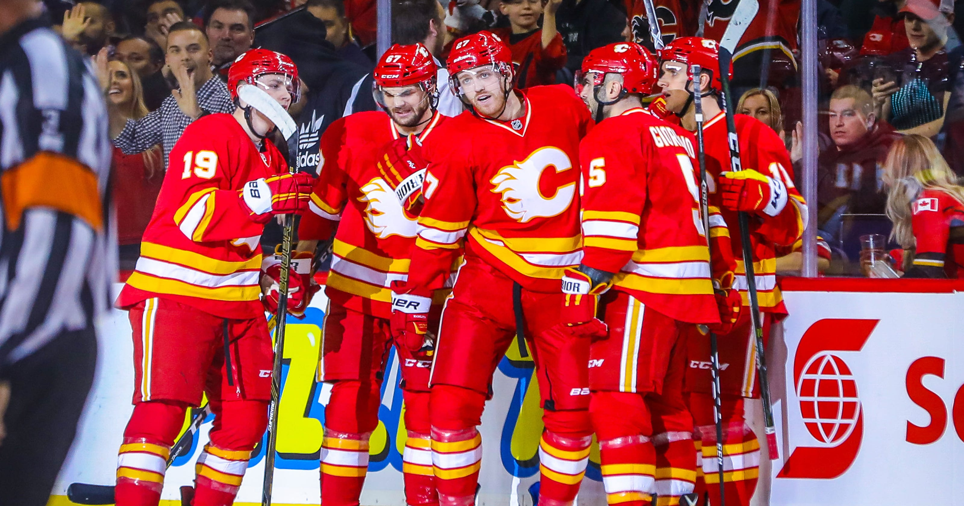 Flames beat Jets for their sixth win in a row 946b67cc1