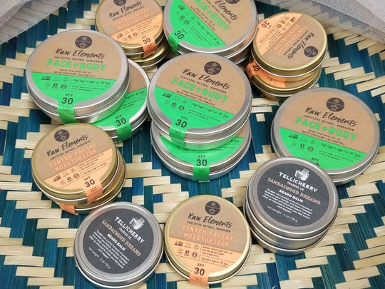JAR has soy candles, canisters of raw, natural sunscreen