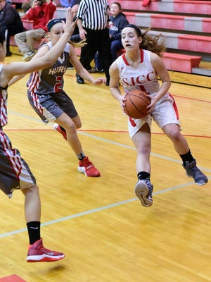 SJCC's Ava Stepanic did not score in a victory Thursday, but she made things miserable for Huron on defense.