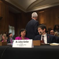 Ashton Kutcher speaks about human trafficking on Capitol Hill