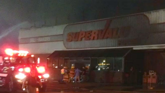Fire destroyed Winona, Mississippi's only grocery store.