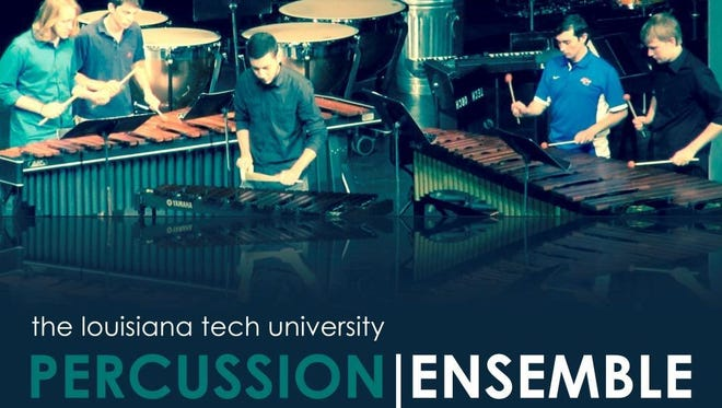 Louisiana Tech Percussion Ensemble performs at 7:30 p.m. Monday at Howard Auditorium. Admission is free.