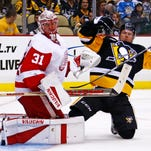 Red Wings beat Penguins in exhibition, 5-2