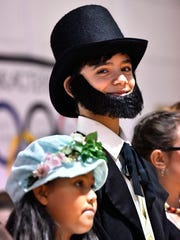 Adrian Guillory portrayed Abraham Lincoln at Dyess