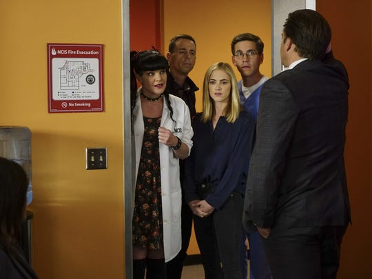 The 'NCIS' gang's almost all here, as Abby (Pauley