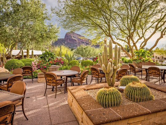 Patio at the Camelback Inn.