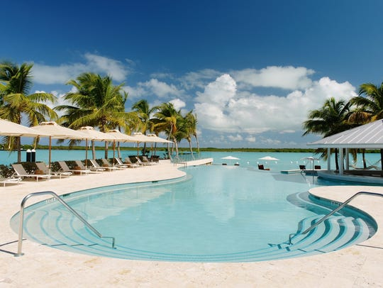 The infinity pool at Blue Haven in Turks & Caicos