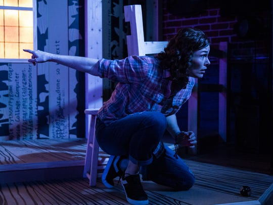 """Nicole Jeannine Smith plays Janelle in the world premiere production of Karen Hartman's """"SuperTrue,"""" running through Feb. 10 at the Know Theatre in Over-the-Rhine."""