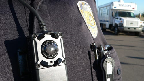 Surprise police have tested the Panasonic WV-TW310 body camera, which attaches to the shirt and provides a 180-degree angle.