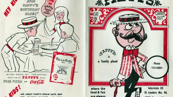 This is a 1975 menu from Pappy's, a pizza shop in the Leader Heights area of York Township. The location later became Mr. Bill's Quarterdeck and an Arby's now covers that site.