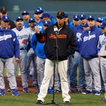 After a Giants fan was brutally beaten on Opening Day 2011 in Los Angeles, Giants and Dodgers players, including pitcher Jeremy Affeldt, issued a plea for peace among the fan groups.