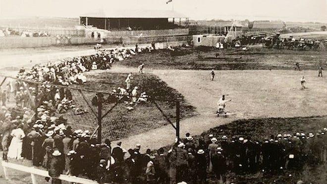 Baseball at the Barnstable County Fair, c. 1923.