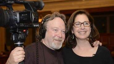 Filmmaker Henry Nevison (left)  and Andrea Green (right)