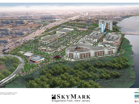 An artist rendering of the Skymark project