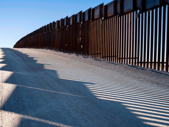 TOPSHOT - This photo shows the border fence near New