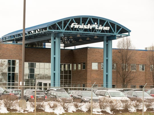 Finish Line offices, 3308 North Mitthoefer Road, Indianapolis, Monday, March 26, 2018. The company's shares soared on Monday following the announcement of its purchase by JD Sports Fashion.
