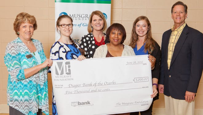 Diaper Bank of the Ozarks at Musgrave Foundation presentation