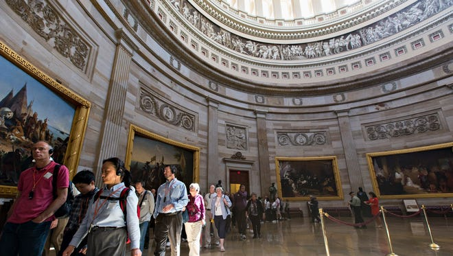 Tours of the U.S. Capitol would be suspended if the federal government shuts down because there is no funding.