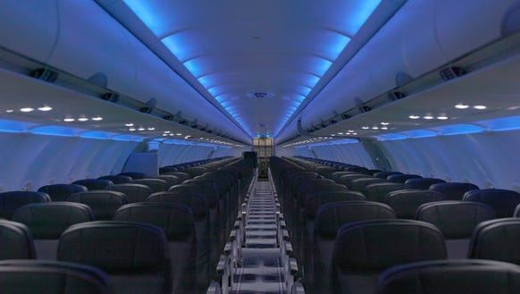 JetBlue provided this image showing what its overhauled