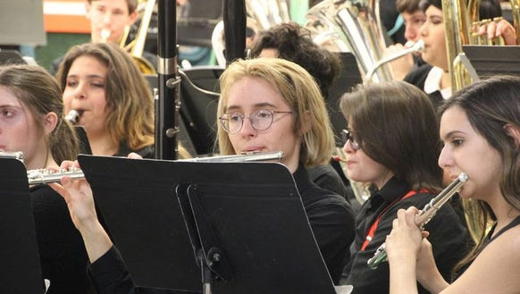 Students from the Exeter Union High School Music Department