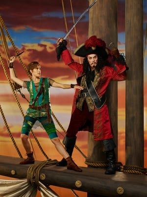 """Allison Williams as Peter Pan and Christopher Walken as Captain Hook each bring something to the NBC broadcast of """"Peter Pan Live!"""""""