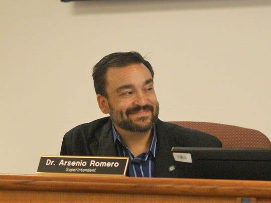"""DPS Superintendent Arsenio Romero, pictured at a school board meeting in July, said the district voluntarily audits its internal protocols """"so that we can better support students in the classroom."""""""