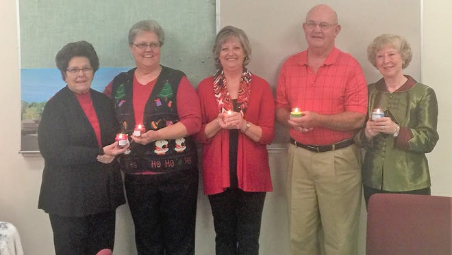 New officers for the Lincoln County Medical Center Auxiliary in 2018 are from left, Linda Langston, president; Dawn Swearingin, vice-president; Jerri Hazel, secretary; Rick Langston, treasurer; and Milly Maston, assistant treasurer.