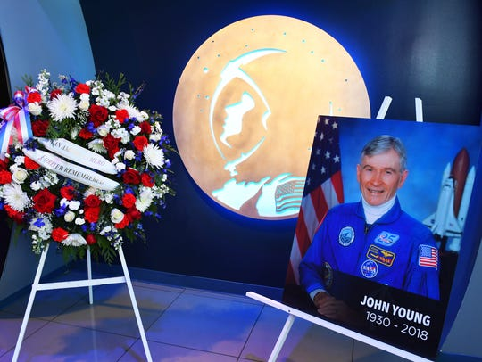 A remembrance ceremony for space legend John Young