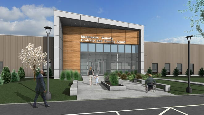 Rendering of Middlesex County Probate and Family Court South's new facility at 10 Commerce Way, Woburn.