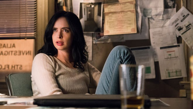 "Krysten Ritter as Jessica on ""Jessica Jones."""