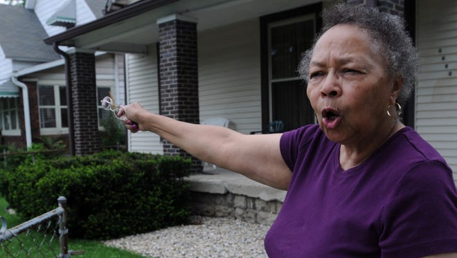 Patricia Ladd laments the decline of her Martindale-Brightwood neighborhood in Indianapolis. The retired schoolteacher has lived there for seven decades and says violent crime has become a problem only in recent years. Two of her neighbors were among the 135 criminal homicide victims in Indianapolis in 2014.