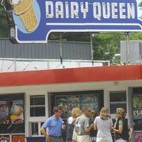 Customers wait in line for ice-cream in Wisconsin Rapids.