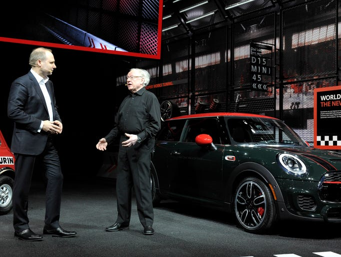 Mini Senior Vice President Jochen Goller, left, talks