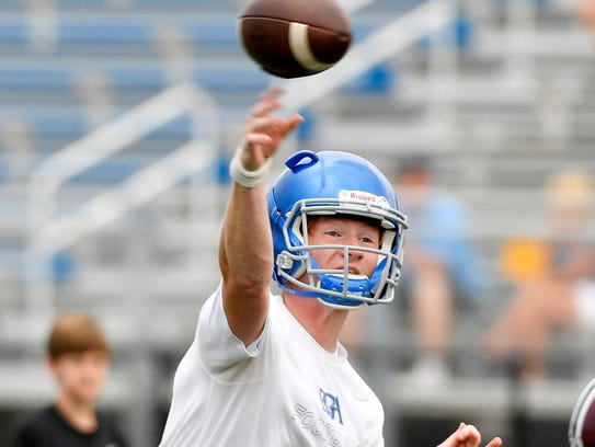 Battle Ground Academy quarterback Drew Martin has thrown for 35 touchdown this season. He and his team travel to face undefeated Lausanne in the Division II-AA semifinals Friday.