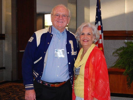 Coffey Griffin, with her husband 50th-year reunion