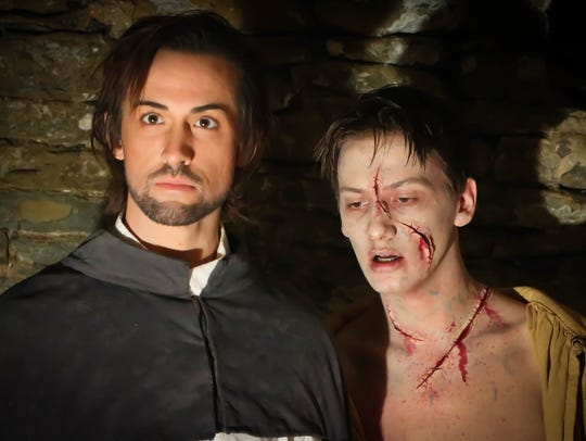 Luka Ashley Carter, left, plays Victor and Olaf Eide